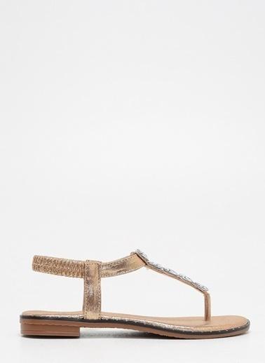 F By Fabrika Kadın Altın Sandalet ANETA Bakır